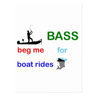 bass begging postcard