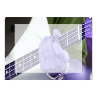 bass blue player hand on neck male photograph 5x7 paper invitation card