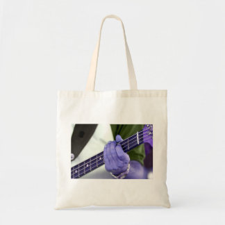 bass blue player hand on neck male photograph canvas bags
