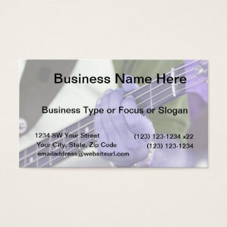 bass blue player hand on neck male photograph business card