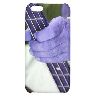 bass blue player hand on neck male photograph iPhone 5C case