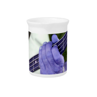bass blue player hand on neck male photograph drink pitcher