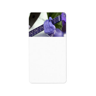 bass blue player hand on neck male photograph personalized address labels