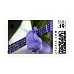 bass blue player hand on neck male photograph postage stamps