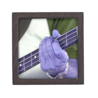 bass blue player hand on neck male photograph premium jewelry box