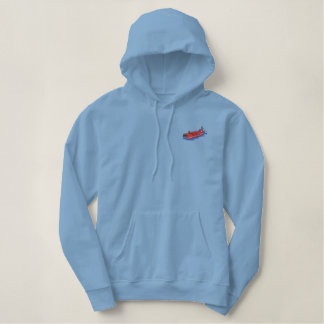 Bass Boat Embroidered Hoodie