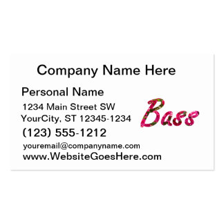 Bass bougie flat text business card