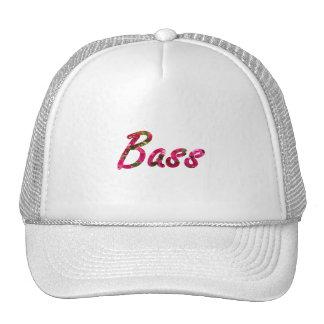 Bass bougie flat text mesh hats