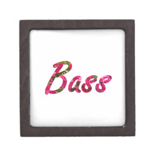 Bass bougie flat text premium keepsake box