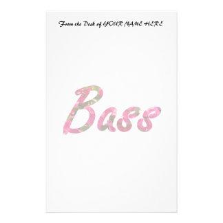 Bass bougie flat text stationery