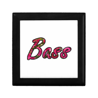 Bass bougie outline flat text jewelry boxes