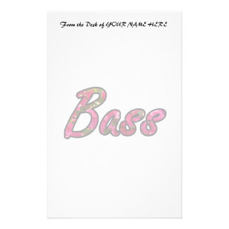Bass bougie outline  flat text stationery