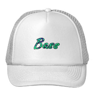Bass bougie teal outline mesh hats
