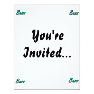 """Bass bougie teal outline 4.25"""" x 5.5"""" invitation card"""