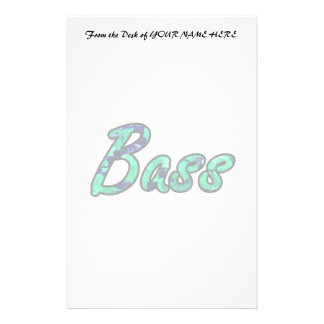 Bass bougie teal outline stationery