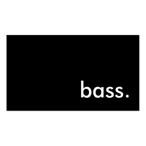 bass. Double-Sided standard business cards (Pack of 100)
