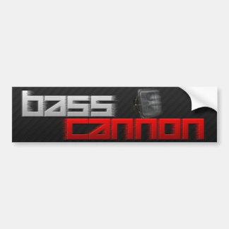 Bass Cannon Car Bumper Sticker