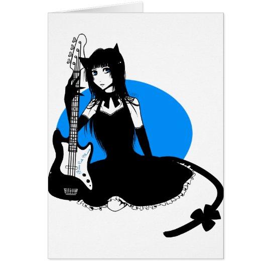 Bass Cat Girl Card