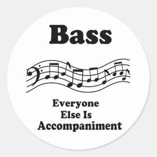 Bass Choir Gift Classic Round Sticker