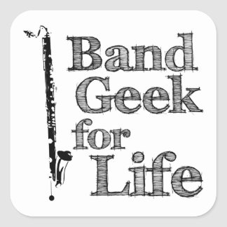 Bass Clarinet Band Geek Square Sticker