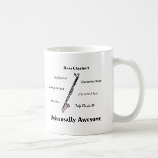 Bass Clarinet Classic White Coffee Mug