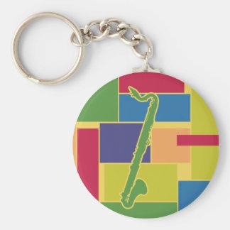 Bass Clarinet Colorblocks Keychain