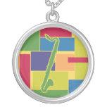 Bass Clarinet Colorblocks Necklace