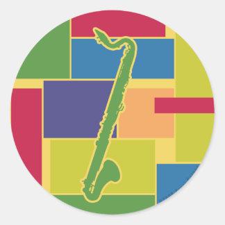 Bass Clarinet Colorblocks Sticker