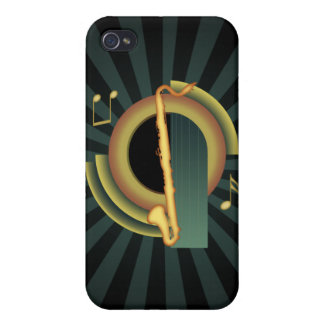 Bass Clarinet Deco 1 iPhone 4 Cases