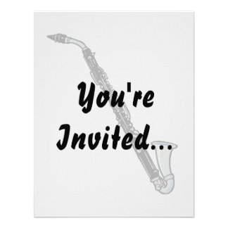 Bass Clarinet Graphic, Just the Clarinet Custom Announcements