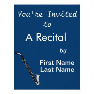 Bass Clarinet Graphic, Just the Clarinet Invitations