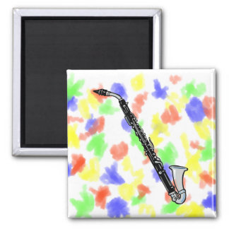 Bass Clarinet Graphic, Just the Clarinet Magnet