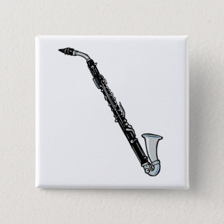 Bass Clarinet Graphic, Just the Clarinet Pinback Button