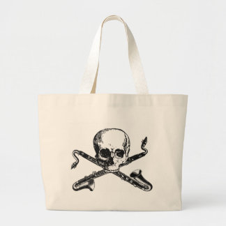 Bass Clarinet Pirate Large Tote Bag