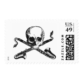 Bass Clarinet Pirate Stamps