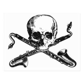 Bass Clarinet Pirate Postcard