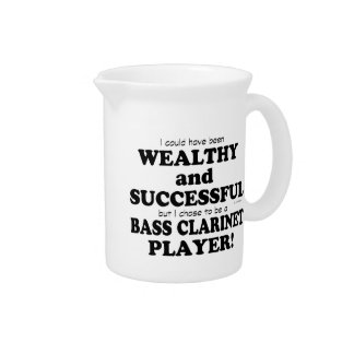 Bass Clarinet Wealthy & Successful Beverage Pitcher