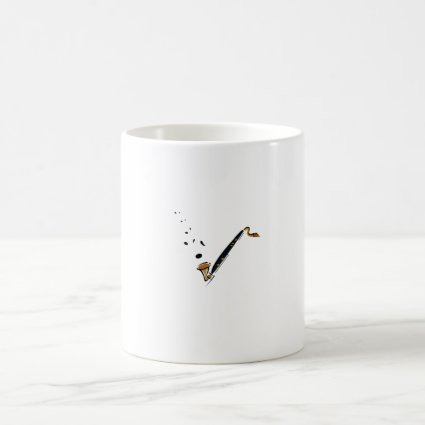 Bass Clarinet with music notes Mugs