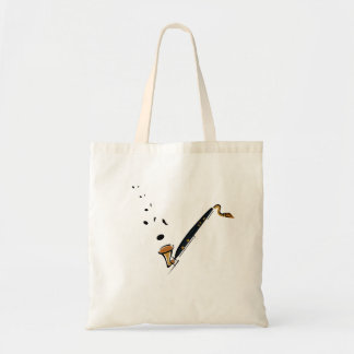 Bass Clarinet with music notes Tote Bag