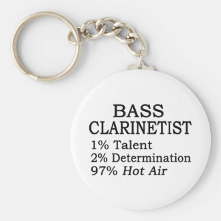 Bass Clarinetist Hot Air Keychain