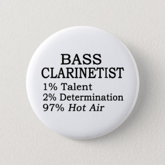 Bass Clarinetist Hot Air Pinback Button