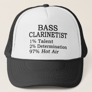 Bass Clarinetist Hot Air Trucker Hat