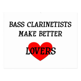 Bass Clarinetists Make Better Lovers Postcard