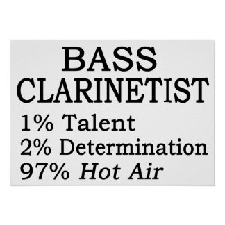 Bass Clarinetistt Hot Air Poster
