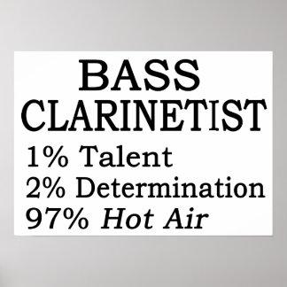 Bass Clarinetistt Hot Air Print