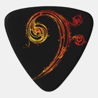 Bass Clef: Bass Guitar Pick