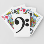 Bass Clef Bicycle Playing Cards