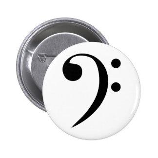 Bass Clef 2 Inch Round Button