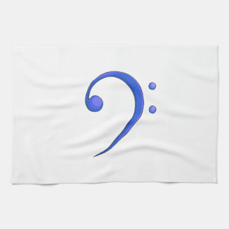 Bass Clef Casual Style Blue note design Towel