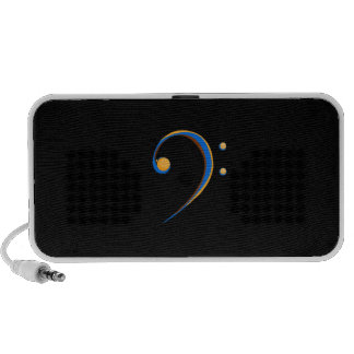 Bass Clef Casual Style Orange and Blue Portable Speaker